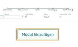 Anleitung A+ Content erstellen - Module