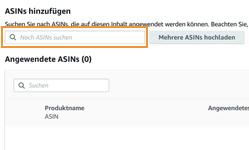 Anleitung A+ Content erstellen - ASINs