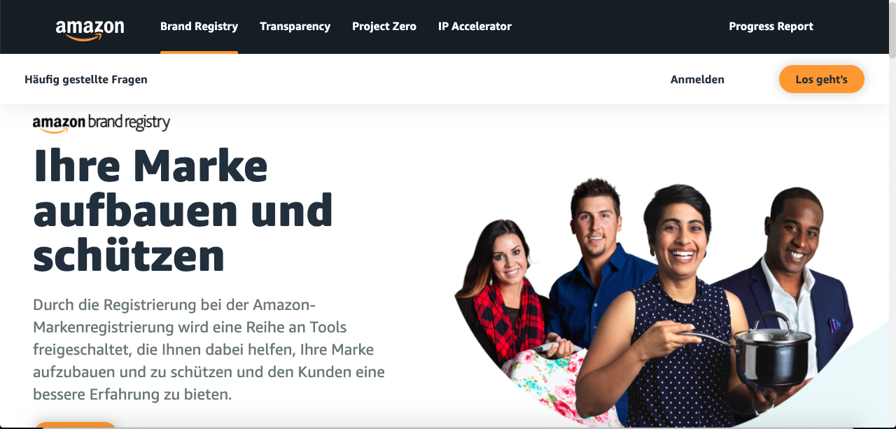 Startseite Amazon Brand Registry